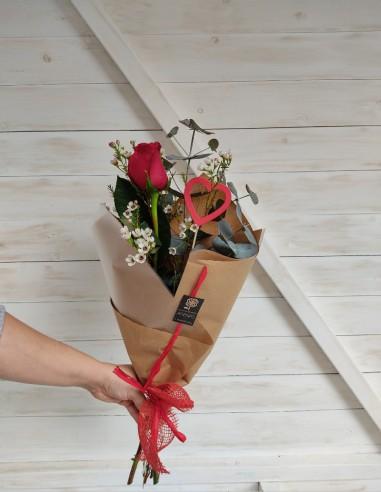 Ram 1 Rosa vemella per Sant Valentí